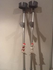 Festive Crutches!