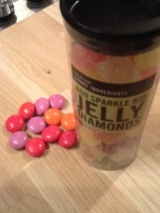 Jelly Diamonds & Chocolate Smarties for Decoration ....