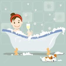 Ahhhh a lovely bubble bath ....