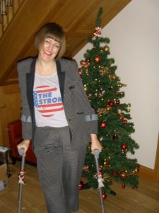 Rocking the Crutches on Christmas Day