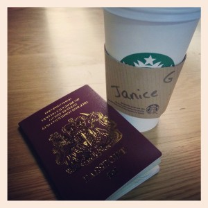 Passport and Coffee