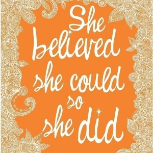 She believed ..