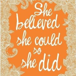 She believed ..